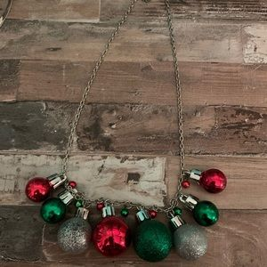 Christmas balls necklace